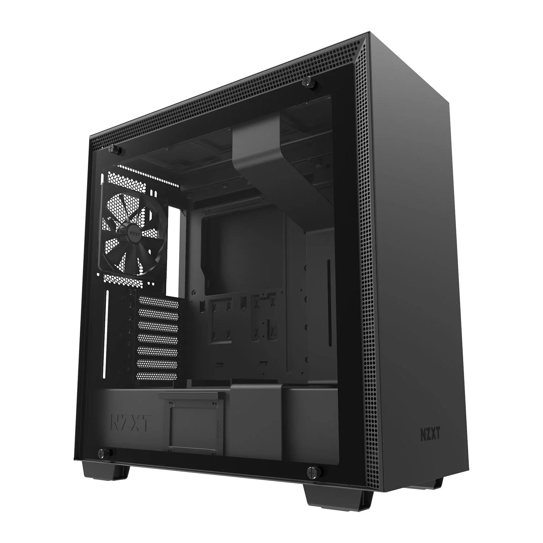 NZXT H700, Mid Tower PC Case, Tempered Glass Window, E-ATX/ATX/mATX/mITX, 3x120mm Fans, 140mm Fan - Black £99.98 at Amazon