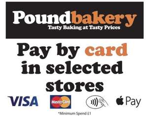 Free gingerbread man at Crewe Poundbakery when making a purchase by card