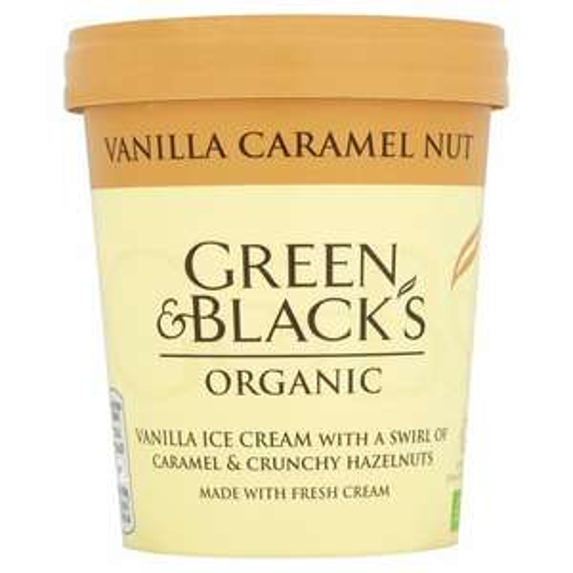 Green & Black's Organic Vanilla Caramel Nut Ice Cream500ml - £1.50 @ Fulton Foods