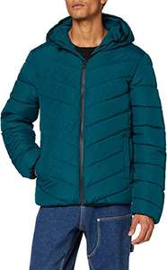 New Look Men's AW19 OP Entry Puffer Jacket, Hooded, Teal, Popper Side Pockets (Sizes XS-XXL) £15 @ Amazon (+£4.49 Non-Prime)
