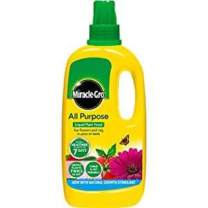 Miracle-Gro All Purpose Concentrated Liquid Plant Food 1L £3.86 at Amazon Prime (+£4.49 non-Prime)