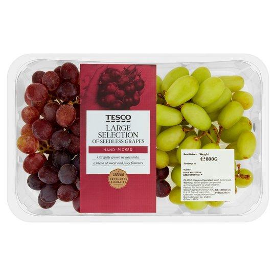 Tesco Large Selection Grapes 800G Pack - £3 @ Tesco