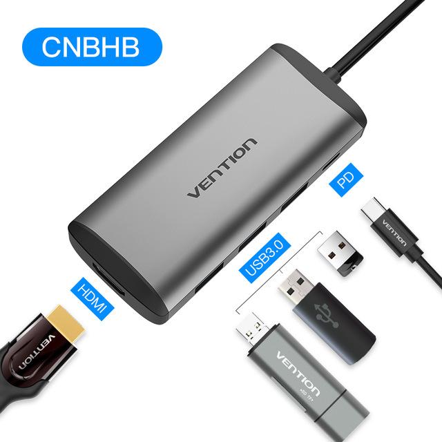 Vention USB Hub Type C - HDM, USB 3.0, Power - £16.50 @ Ali Express Deals / VEnTIon Store