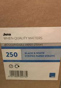 Morrison's 250 paper straws - reduced to clear - 50p (Harwich)