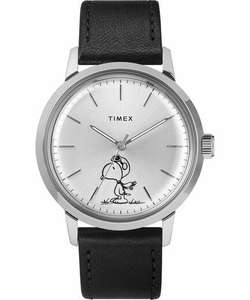 Timex Marlin® Automatic X Peanuts Featuring Snoopy Flying Ace 40mm Leather Strap Watch