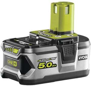 Ryobi RB18L50 ONE+ Lithium+ 5.0Ah Battery, 18V £55.99 @ Amazon