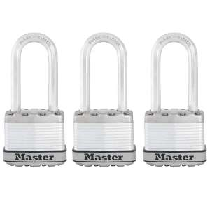 MASTER LOCK Heavy Duty Padlock [Key] (Laminated Steel, Long Shackle, Weatherproof)[ Pack of 3] £15.75 at Amazon Prime (+£4.49 non Prime)