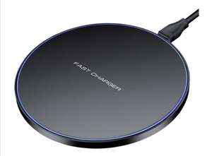 Wireless Charger, 10W Wireless Charging Pad £9.93 (£11.92 Non Prime) @ Hunletai Fulfilled By Amazon