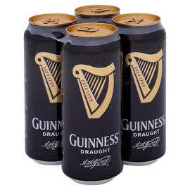 Guinness Draught Stout Beer 4 x 440ml Can £2.50 @ Iceland Truro