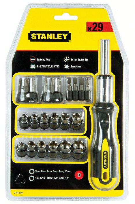 Stanley Multi-bit ratchet screwdriver 29 piece £5 free Click&Collect @ B&Q