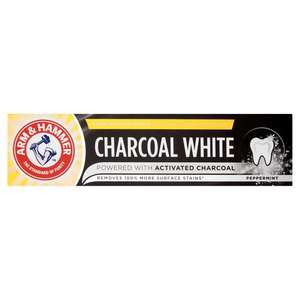 Arm & Hammer Charcoal White 75Ml £1.50 at Tesco