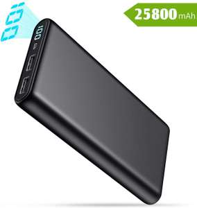 QTshine Power Bank, Portable Charger [25800mAh] High Capacity External Battery Pack £11.95 Sold by zhouji-eu and Fulfilled by Amazon