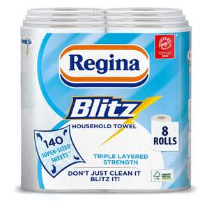 Regina Blitz Household Towels - Pack of 4, Total 8 £10 at Amazon Prime / +£4.49 non Prime (£8.50 S&S)