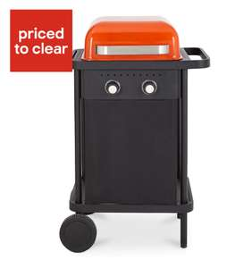 Blooma Rockwell 200 2 burner Gas Black & orange Barbecue £37 at B&Q