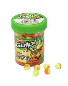 Berkley Gulp Alive Eggs (Garlic Flavour) for float trout fishing £3.99 at Decathlon Free click and collect