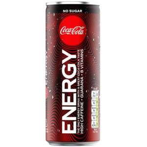 Coca Cola Energy 39p each or 3 for £1 - OneBelow