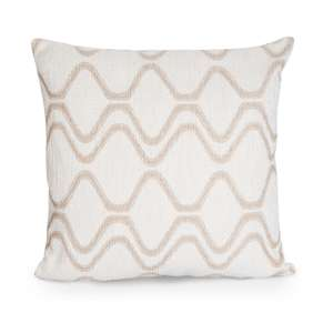 Cream swirl cushion - £3 + free Click and Collect from B&Q