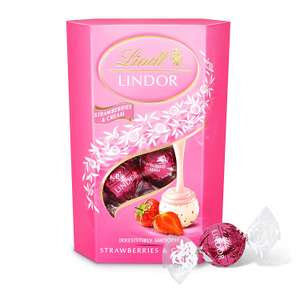 2 Boxes of Lindt Lindor Strawberries and Cream Chocolate Truffles Box 200 g (£3.50) £7 at Amazon (£3.32 each with S&S)