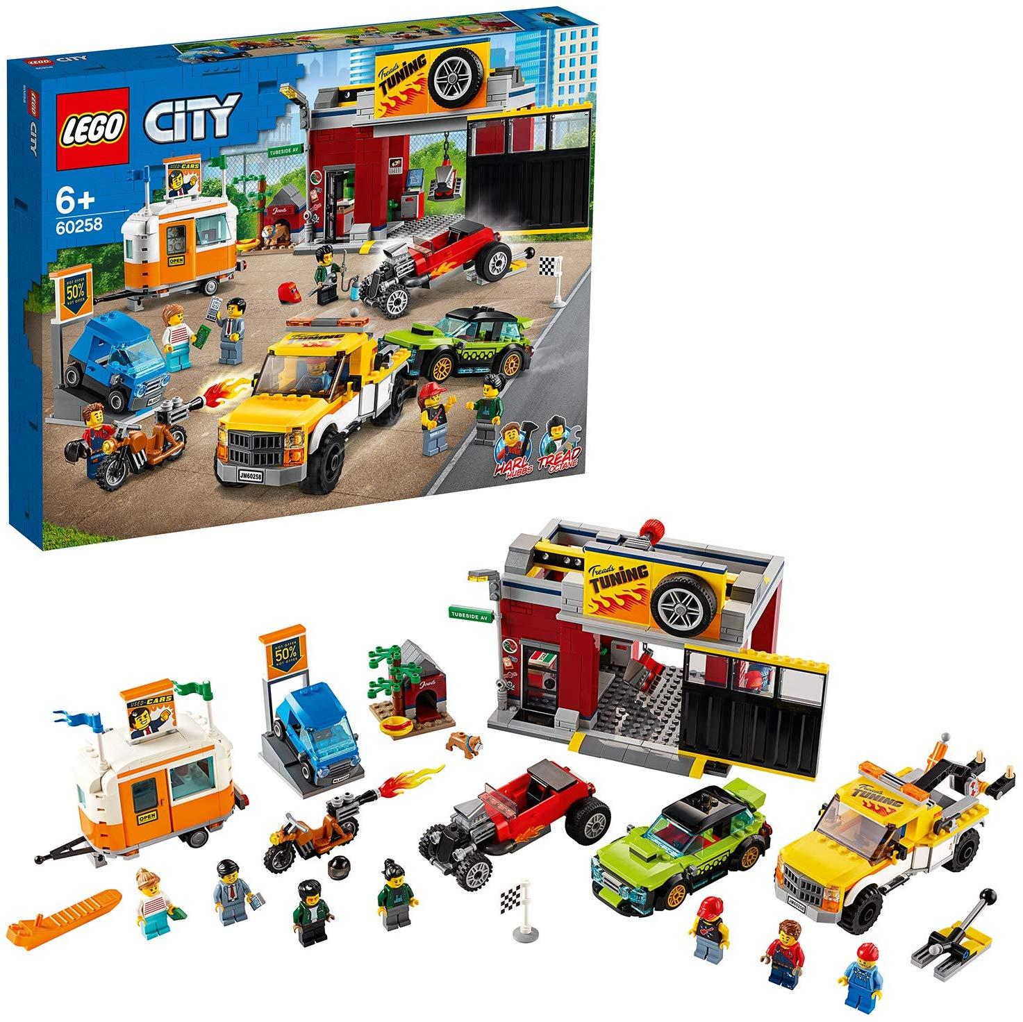 LEGO 60258 City Nitro Wheels Tuning Workshop £63.99 delivered at Amazon