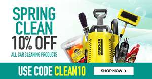10% off All Car Cleaning Products with voucher code @ Euro Car Parts