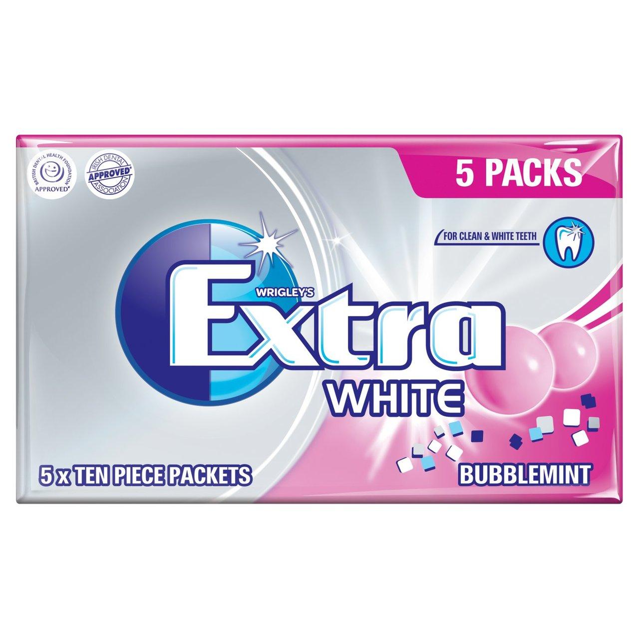 Wrigley's Extra White Bubblemint Bubblegum 5 packs 99p @ Home bargains