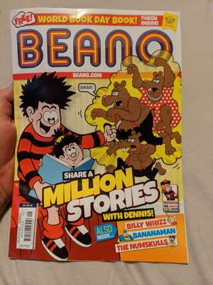 Free £1 Book Token in Beano issue 4024 - £2.75 (on sale Wed 26th Feb 2020/already available to subscribers) - choose from 12 exclusive books