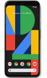 Google Pixel 4 Clearly White 64GB - Unlimited Minutes, Unlimited Texts, 4GB Data @ £100 upfront / £20 a month = £580 total at e2save