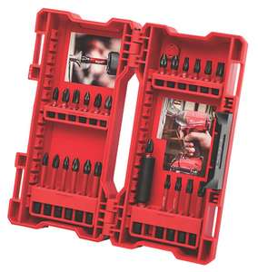 Milwaukee Mixed Shockwave Bit Set 24 Pieces - £11.99 + Free Click & Collect @ Screwfix