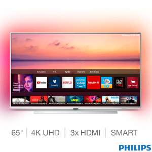 Philips 65PUS6804/12 65 Inch 4K Ultra HD Smart Ambilight TV £699.99 (Delivered with 5 Year Warranty) at Costco