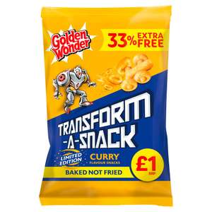 TRANSFORM-A-SNACK Curry flavour 120g 49p at Home Bargains belle vale Liverpool
