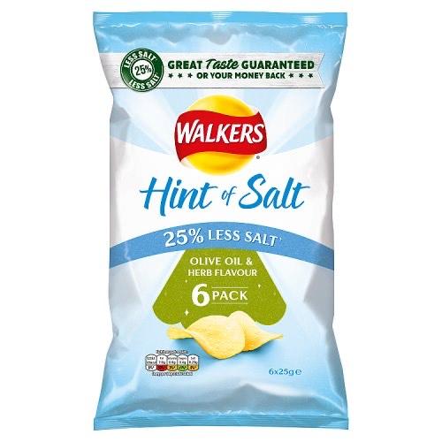 Walkers Hint of Salt Olive Oil & Herb (6 pack) *69p* @ Heron Foods Nottingham