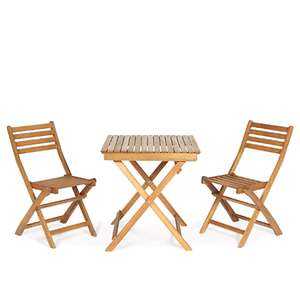 Virginia Wooden 2 seater Table & chair set £30 Click & Collect @ B&Q
