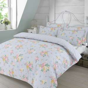 Dreamscene Blushing Rose Floral Duvet Set - Single - £8.98 Double / £10.98 King / £12.98 Super King / £13.98 Delivered @ Onlinehomeshop