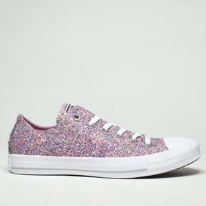 Converse pink all star glitter ox trainers £19.99 with Free click & collect / £1 delivery @ Schuh