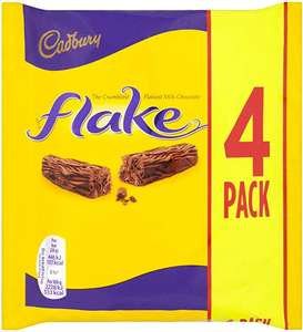 Cadbury Flake Chocolate Bar, 80 g £1 (+£4.49 Non Prime) @ Amazon