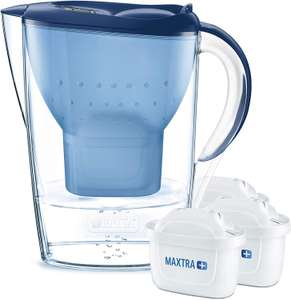 BRITA Marella Water Filter Starter Pack with 3 BRITA MAXTRA+ Cartridges, in Blue £19 Prime / £23.49 Non Prime at Amazon