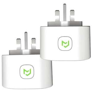 Smart Plug, Meross WiFi Smart Socket Compatible with Alexa Google Home (2 Pack) £14.86 @ Sold by WiFi Home and Fulfilled by Amazon