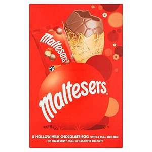 Maltesers Medium Chocolate Easter Egg - Pack of 3 £3 (+£4.49 Non Prime) @ Amazon