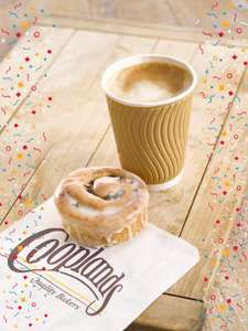Free Tea or Coffee with any Breakfast Treat (From £2) @ Cooplands Bakery