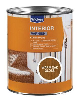Quick Drying Interior Varnish (Warm Oak Gloss / Dark Oak Satin / Red Mahogany Gloss) 750ml for £1 @ Wickes