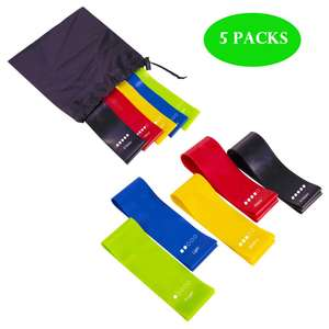 BALABA 5 Sets Resistance Exercise Loop Bands,Fitness Bands £5.09 (Prime) / £9.58 (non Prime) Sold by BaLaBa Dispatched by Amazon