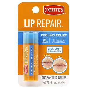 O'Keeffe's Lip Repair Stick Cooling 4.2g £3.15 (Prime) / £7.64 (non Prime) + 25% voucher S&S at Amazon