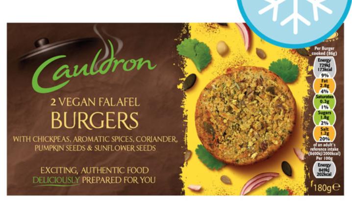Cauldron Vegan Burgers 69p @ Heron Blackburn