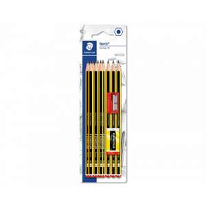 Staedtler Noris 10 HB Pencil Set with Pencil Sharpener & Eraser £2.49 with Free click and collect @ Rymans