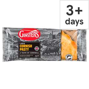 Ginsters Large Steak Or Chicken & Mushroom Slice 204g & Large Cornish Pasty 272g Half Price £0.95p @ Tesco