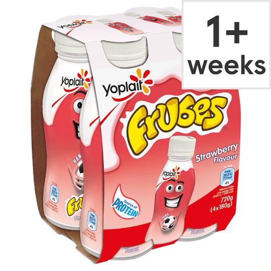 Frubes Strawberry Yoghurt Drink 4 X 180G Half Price £1 @ Tesco