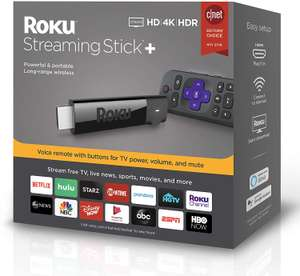 Roku Streaming Stick+   HD/4K/HDR Streaming Device with Long-range Wireless and Voice Remote with TV Controls - £41.30 delivered @ Amazon US