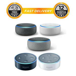 Amazon Echo Dot 3rd & 2nd Generation Smart Speaker With Alexa - Black/Grey/White - £26.60 delivered using code @ hitechelectronicsuk / eBay