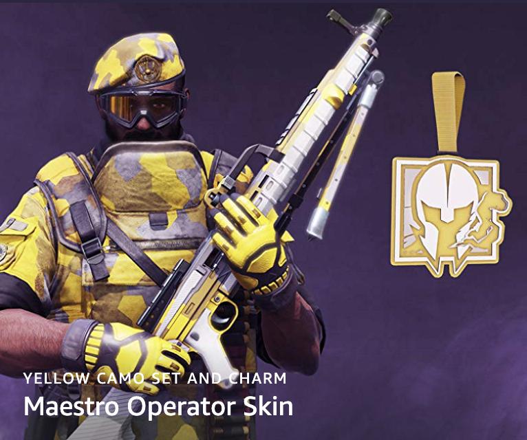 Rainbow Six Siege - FREE Maestro Operator Skin with Twitch Prime via Twitch Store