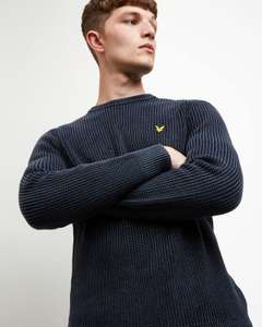 Lyle and Scott Mens Ribbed Jumper in Dark Navy (XS-XXL available) for £28.80 delivered @ eBay / Lyle and Scott